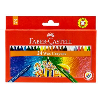 Faber Castell-Regular Crayons 24 Colors