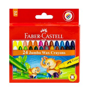 Faber Castell-Jumbo Wax Crayons 24 Colors