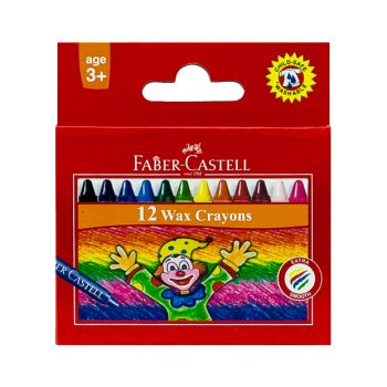 Faber Castell-Wax Crayons 12 Colors