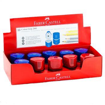 Faber Castell-Trio Sharpener Assorted Colors Grip