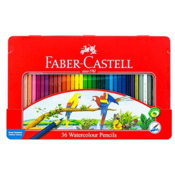 Faber Castell-Water Color Pen 36 Colors (Flat Tin)