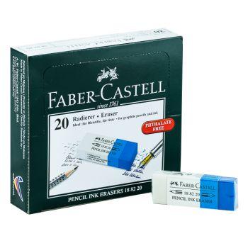 Faber Castell-Eraser Blue/White Packet of 20 Pcs