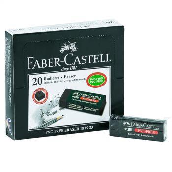 Faber Castell-Eraser Black Packet of 20 Pcs