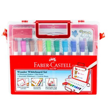 Faber Castell-Wonder White Board Set with 10 Markers