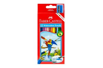 Faber Castell-Water Color Pencil 12 Colors (Full Size)