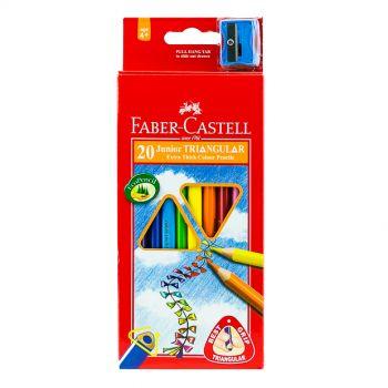Faber Castell-Junior Triangular Color Pencil 20 (Long)