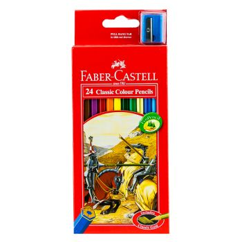 Faber Castell-Classic Color Pencil 24 Colors (Full Size)