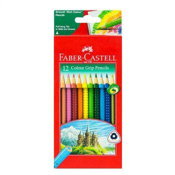 Faber Castell-Grip Color Pencil 12 Colors