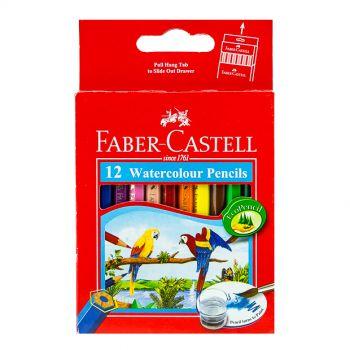 Faber Castell-Water Color Pencil 12 Colors (Half Size)
