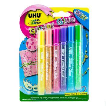 UHU-Glitter Shiny (6 x 10ml)
