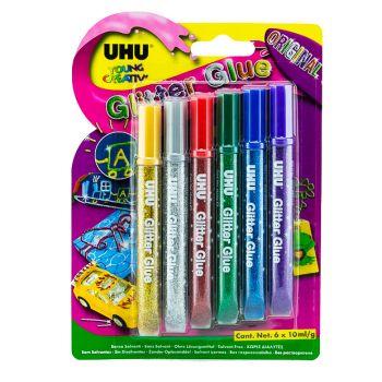 UHU-Glitter Original (6 x 10ml)