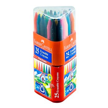 Faber Castell-Grip Wax Crayons 25 Colors