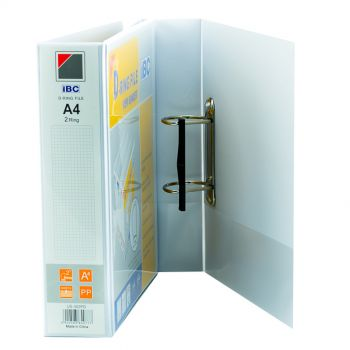 IBC D-Ring View Binder, 2 Inch, 2 Ring, White - (US-302PD)