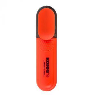 Kores Bright Liner Highlighter Pens, Chisel Tip , Orange