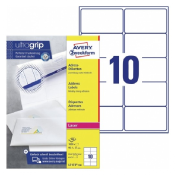 Avery Address Labels With Quickpeel In A4 Sheet , 1000 Labels Per 10 Pages