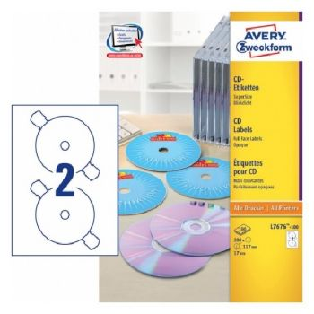 Avery CD Labels Supersize, 200 Labels Per 100 Pages