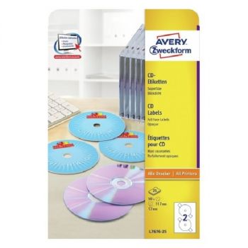 Avery CD Labels Supersize, 50 Labels Per 2 Pages