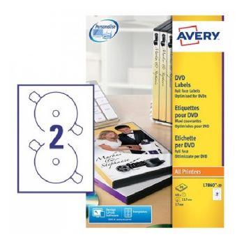 Avery DVD Labels Supersize, 40 Labels Per 20 Sheet