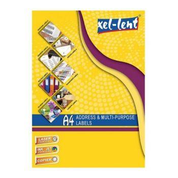 Xel-lent A4 Multipurpose Labels LFL00022- Label Size 210 x 297mm -100sheets/pack.