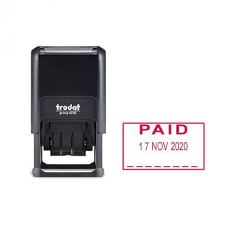 Trodat Printy 4750, Paid Stamp Red