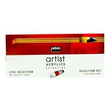 Pebeo Artist Acrylics Extrafine Selection Set 10x37ml