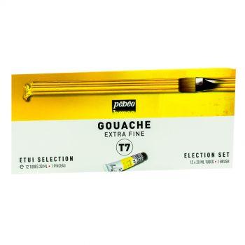 Pebeo Gouache Extra Fine T7 Color Set 12x20ml