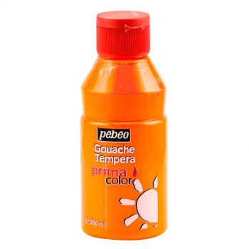 Pebeo Gouache Tempera Prima Color Fluorescent Orange 250 ml