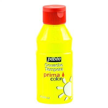 Pebeo Gouache Tempera Prima Color Fluorescent Yellow 250 ml