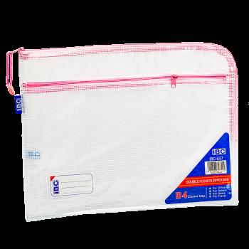 IBC Mesh Double Zipper Bag Curved , Pink, IBC-E57