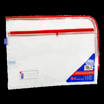 IBC Mesh Double Zipper Bag Curved , Red, IBC-E57