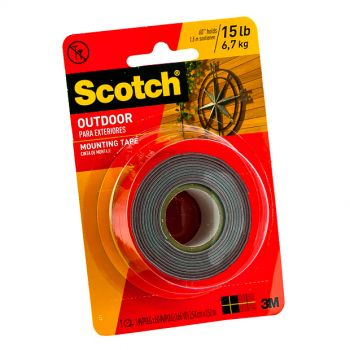 """Scotch® Super Strong Exterior Mounting Tape, 1"""" x 60"""""""