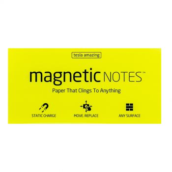 Tesla Amazing - Magnetic Notes - 100 Pages ,Large, Yellow,10170