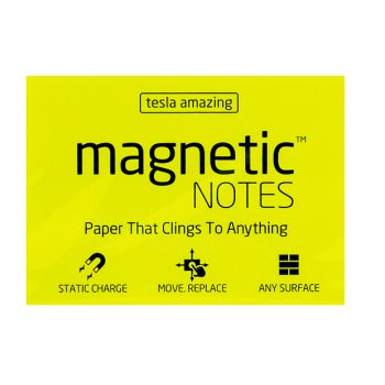 Tesla Amazing - Magnetic Notes - 100 Pages (M) Yellow