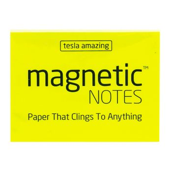 Tesla Amazing - Magnetic Notes - 100 Pages (S) Yellow