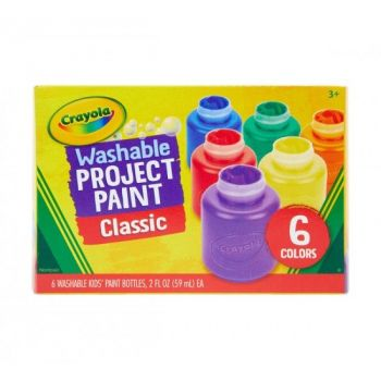 Crayola Washable Project Paint Classic Pack of 6
