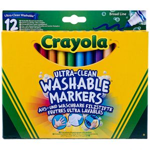 Crayola - 12 Ultra clean Washable Markers