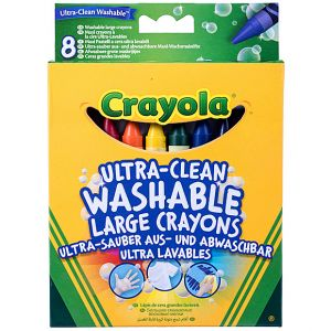 Crayola - 8 Ultra Clean Washable Large Crayons