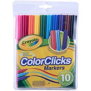 Crayola - 10 COLOR CLICKS MARKERS