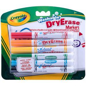 Crayola - 6 Washable Dry Eraser Markers