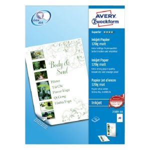 Avery Superior Inkjet Paper, A3, 50 Sheets Per Pack