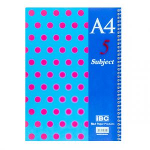 IBC 5 Subject 6 pocket Notebook A4 Size Color Dots (MP-09-5S-CPP-D)