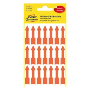 Avery Labels In Special Shape, 63 Labels Per 3 Pages