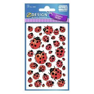 Avery Deco Stickers, Ladybug, 114 Sticker Per 3 Page