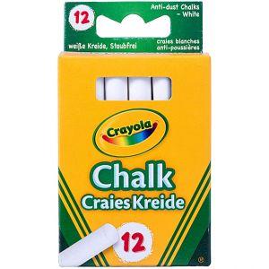 Crayola - 12 ANTI DUST CHALKS-WHITE