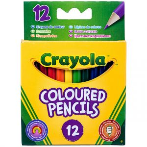 Crayola - 12 HALF LENGTH COLOUR PENCILS