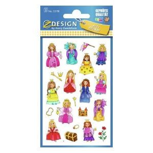Avery Paper Stickers For Kids, Princess, 57 Sticker Per 3 Page
