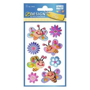 Avery 3D Stickers For Kids, 8 Sticker Per 1 Page
