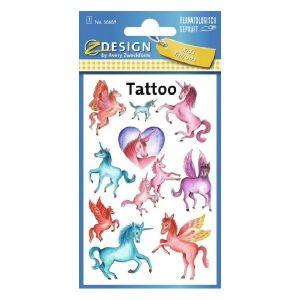 Avery Temporary Kids Tattoo, 10 Unicorns Tattoos Per 1 Page