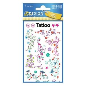 Avery Temporary Kids Tattoo, 17 Petals Tattoos Per 1 Page