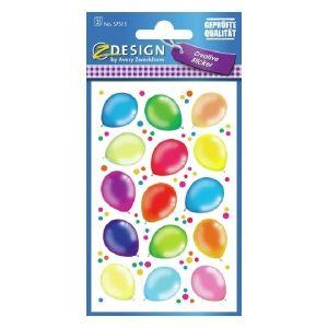 Avery Deco Stickers, Ballons, 30 Sticker Per 2 Page